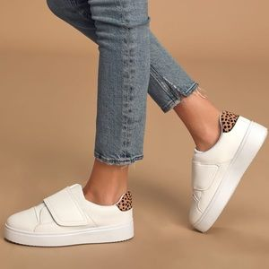 Qupid Bayleigh White Flatform Sneakers